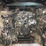 установка дизельного двигателя